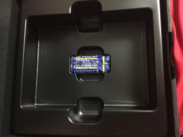 単四電池が付属していました