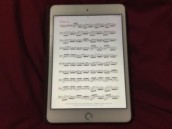 iPadで楽譜を表示