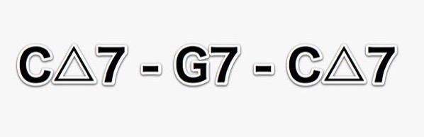 C△7-G7-C△7