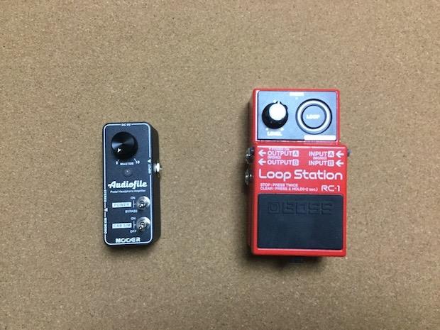 AudiofileとRC-1のサイズ比較