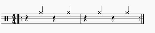 メトロノームは2拍4拍