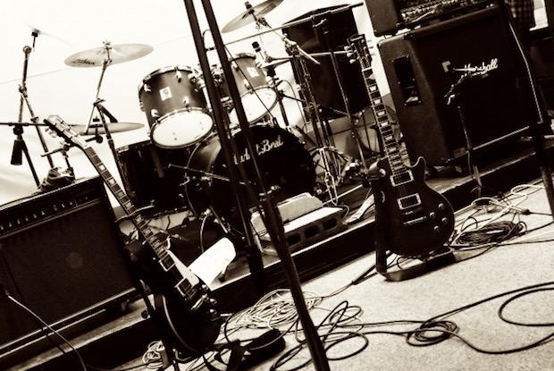 バンドのスタジオ