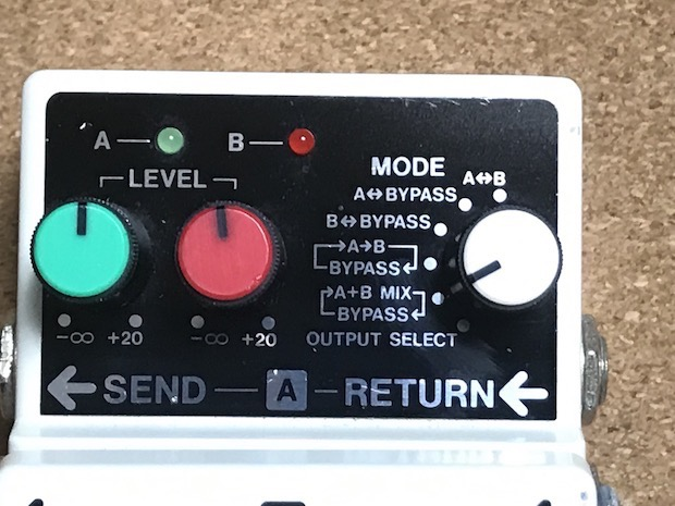 BOSS LS-2の操作ノブ