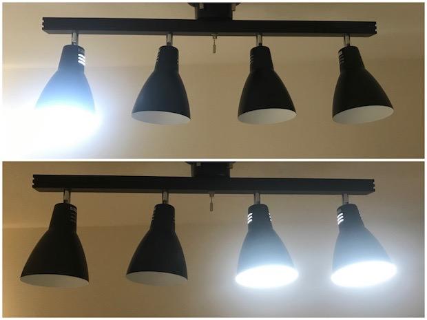 点灯する電球の指定