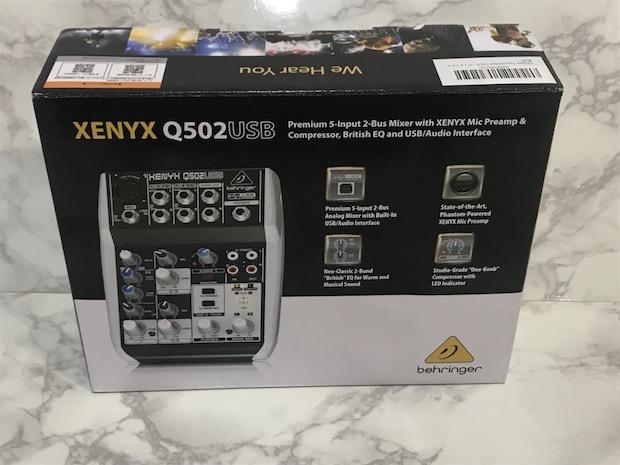 Behringer XENYX Q502USBの箱
