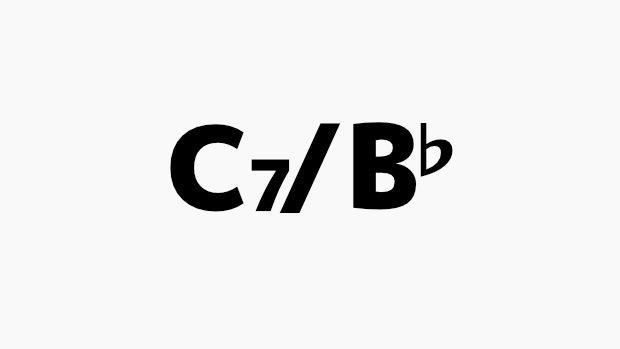 C7 B♭のコード