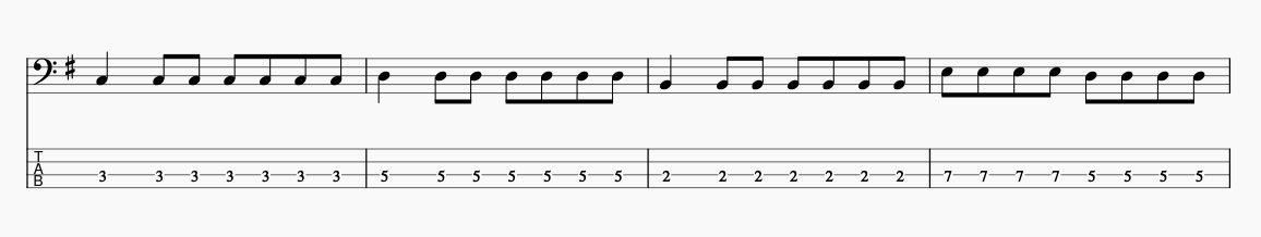 4536ルート弾きTAB譜