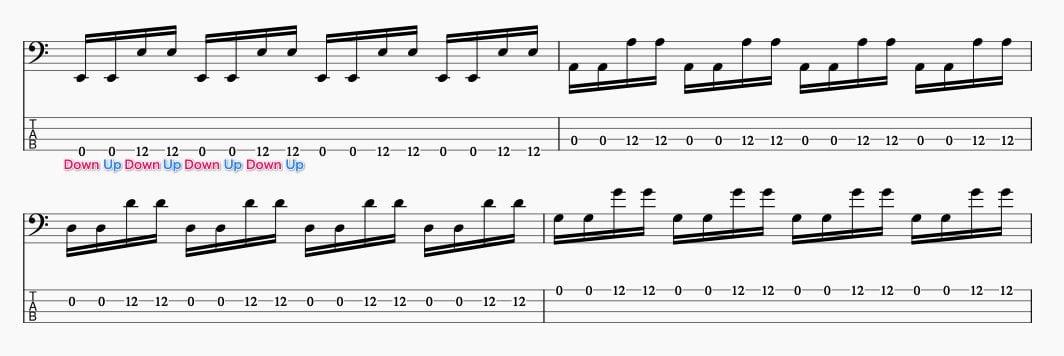 サムアップの基礎練習 同弦