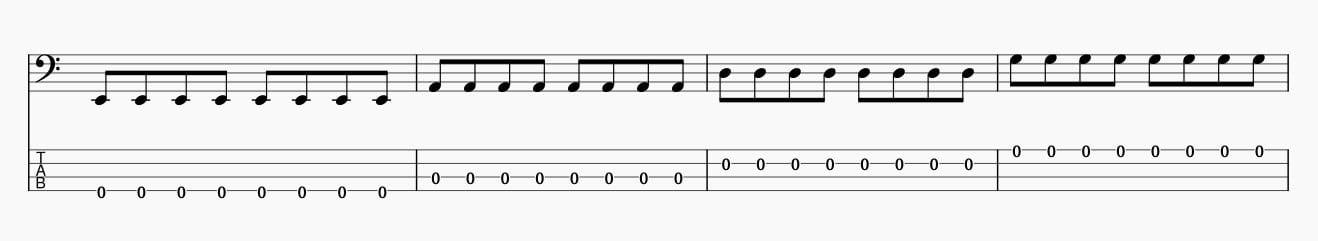 8分音符サムピング基礎練習