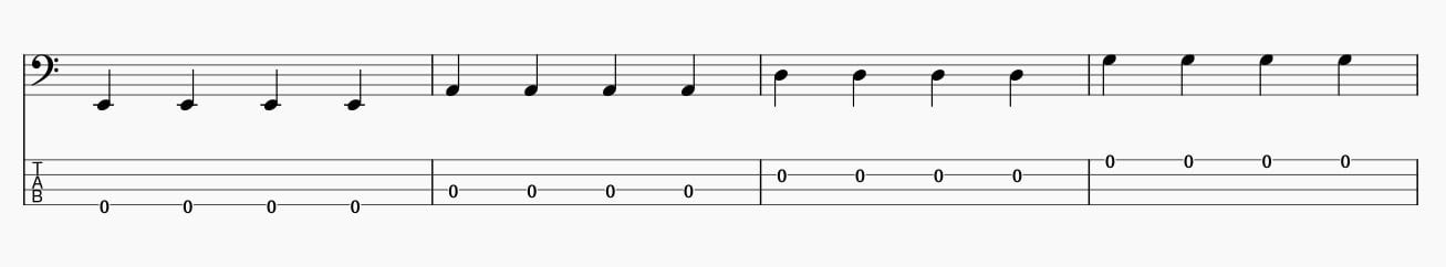 4分音符サムピング基礎練習